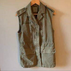 Zara Trafaluc Collection Utility Military Vest